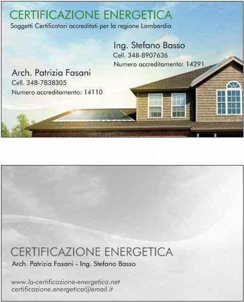 abbastanza Richiesta informazioni certificazione energetica | ing. Stefano Basso SC33